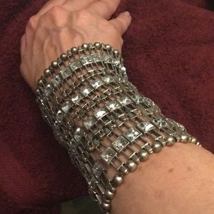 Jewelry - Beautiful silver costume cuff.